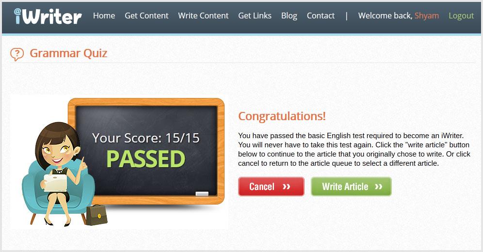 writing-test-passed